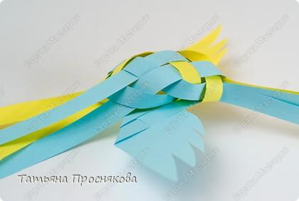 Мастер-класс Поделка изделие Плетение Плетёные птички Бумага фото 20