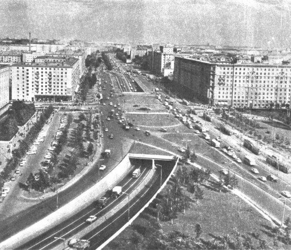 4. Тоннель на Соколе -Автомобилистам до и после, дороги, интересно, история, столица, тогда и сейчас, фото москвы