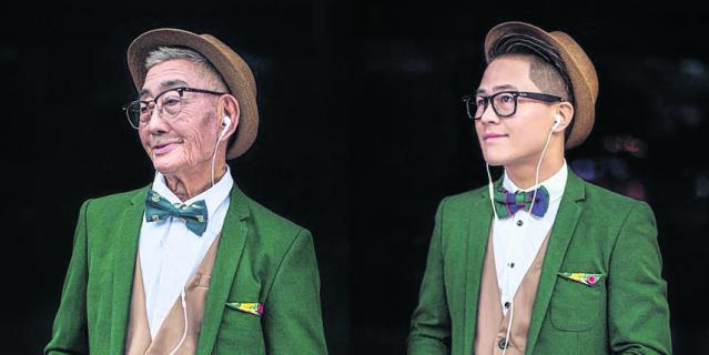 Внук скопировал модный образ деда. Фото