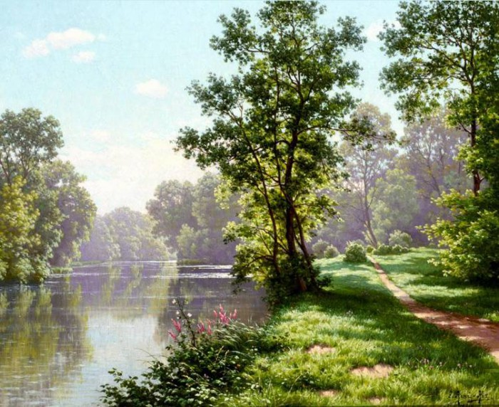 пейзажи художник Charles Edmond Rene-His - 07