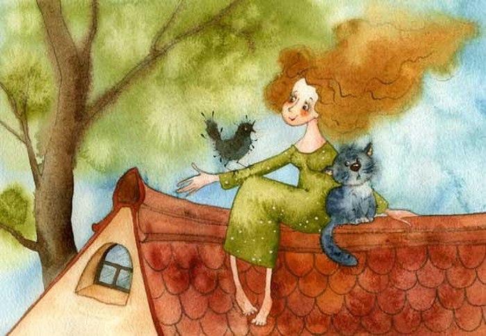 Очень уютное  и душевное стихотворение. Хорошо, когда есть с кем поговорить. Хотя бы с кошкой...