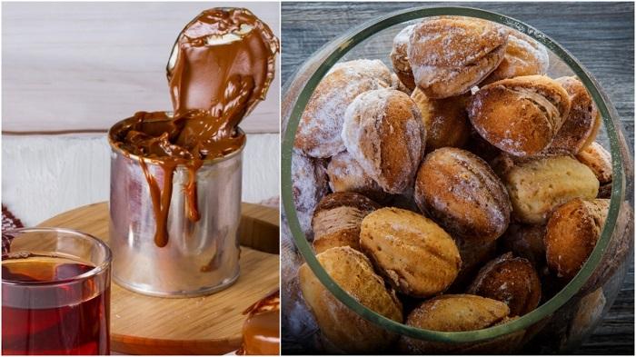 печенье со сгущенкой и кокосовой стружкой