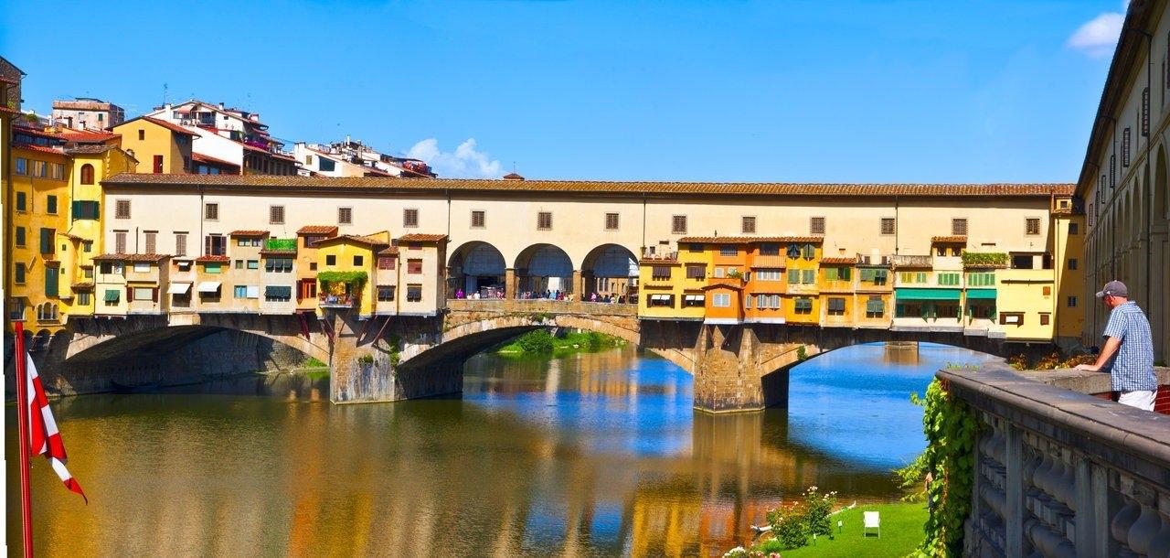 Удивительный мост Понте Веккьо, Флоренция