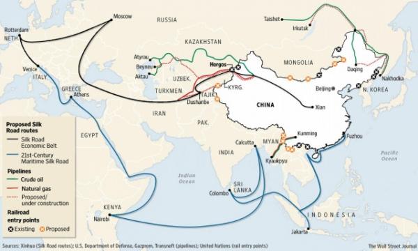 Новый Шелковый путь может изменить экономическую структуру целых регионов