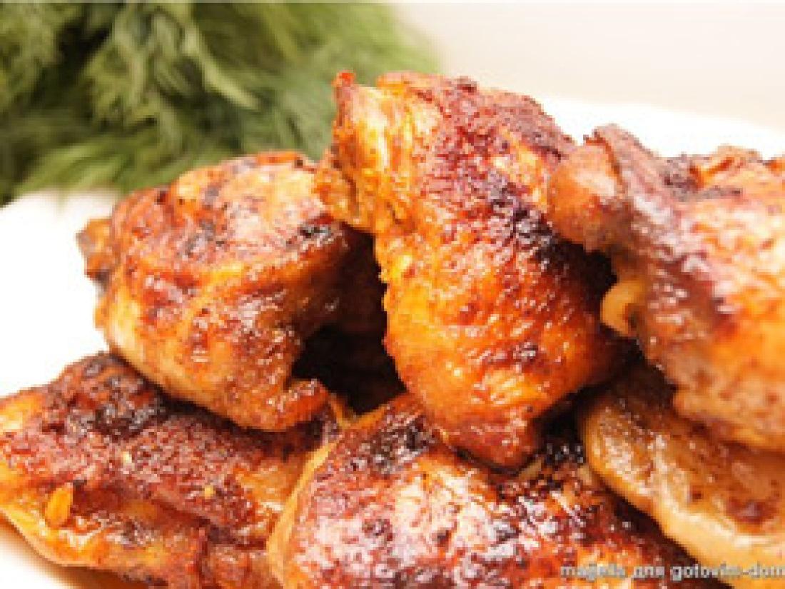 Куриные бедрышки : 5 простых и вкусных рецептов