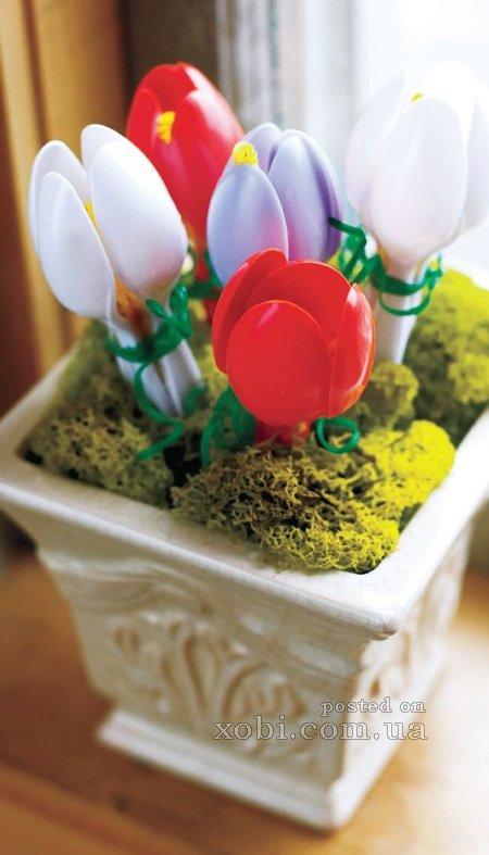 Подарок из одноразовой посуды