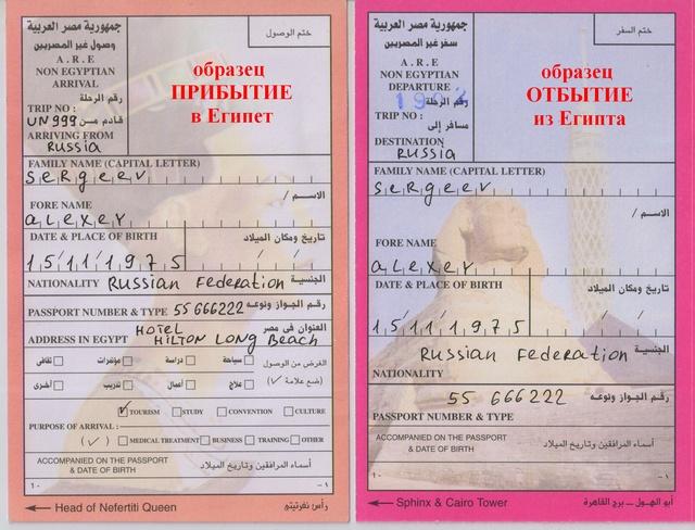 какие необходимо охормлять документы для приезда в украину египтянину