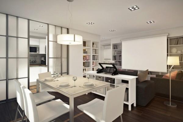 Комфортный дизайн 1 комнатной квартиры 45 кв м