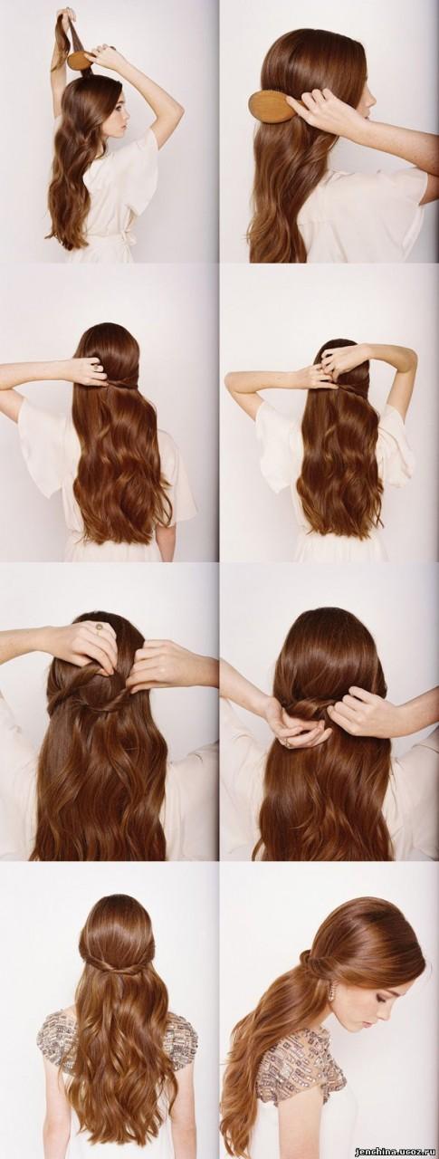 Модное прически на длинные волосы на каждый день