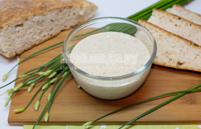 Вечная закваска для хлеба и выпечки без дрожжей