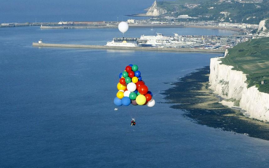 полет на большом воздушном шаре