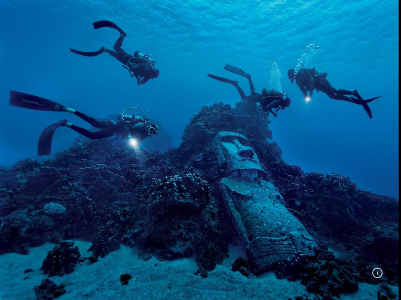 Статуи с острова Пасхи нашли еще и под водой! Уникальное открытие!