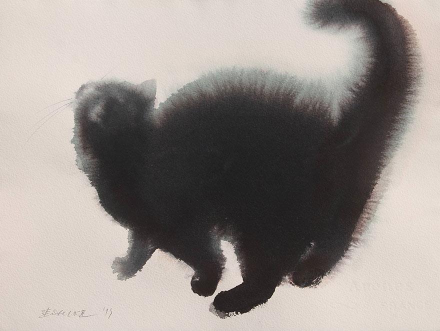 Акварельные кошки от Endre Penovac