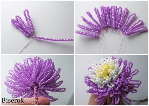 фиолетовый бутон