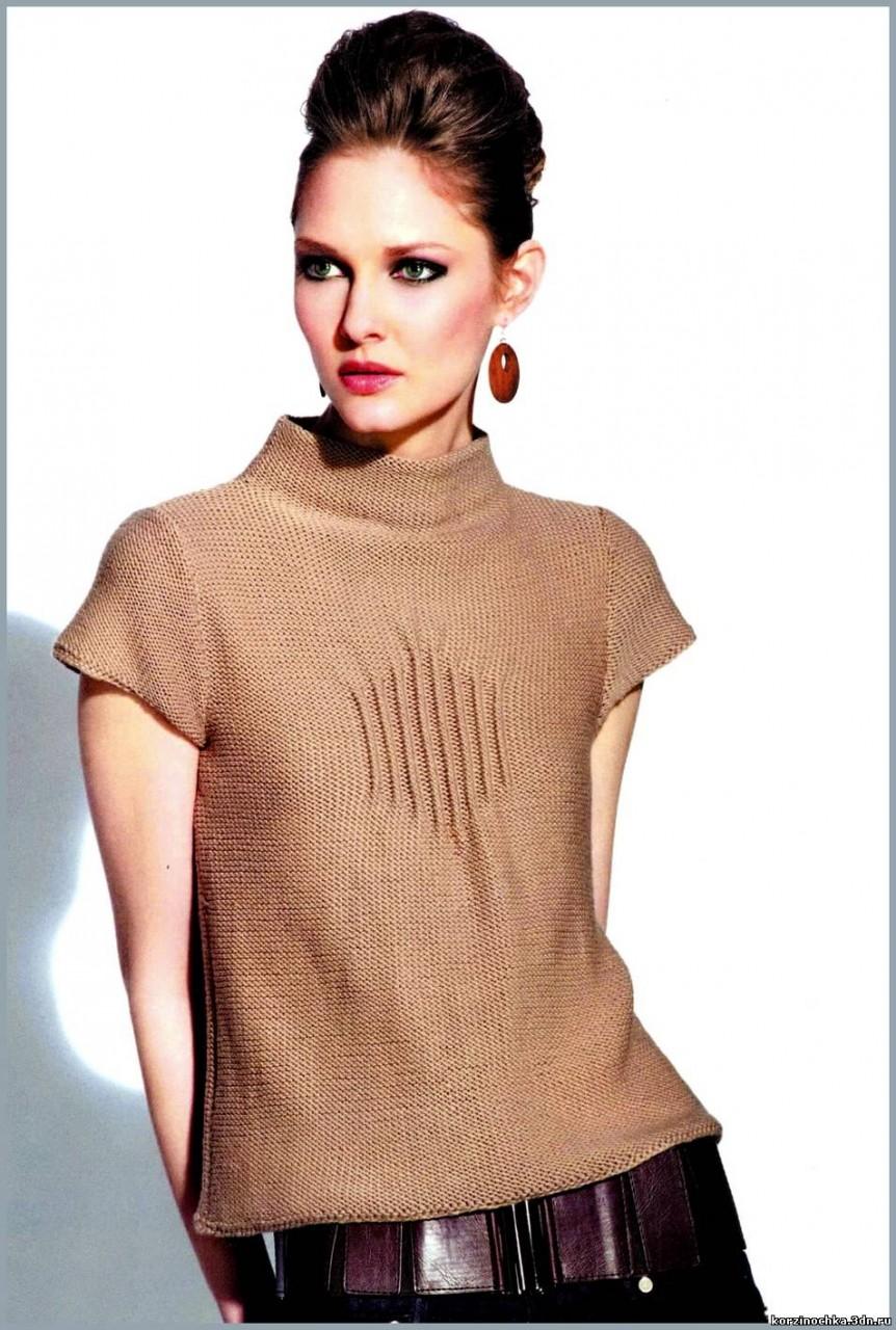 Элегантный пуловер с защипами