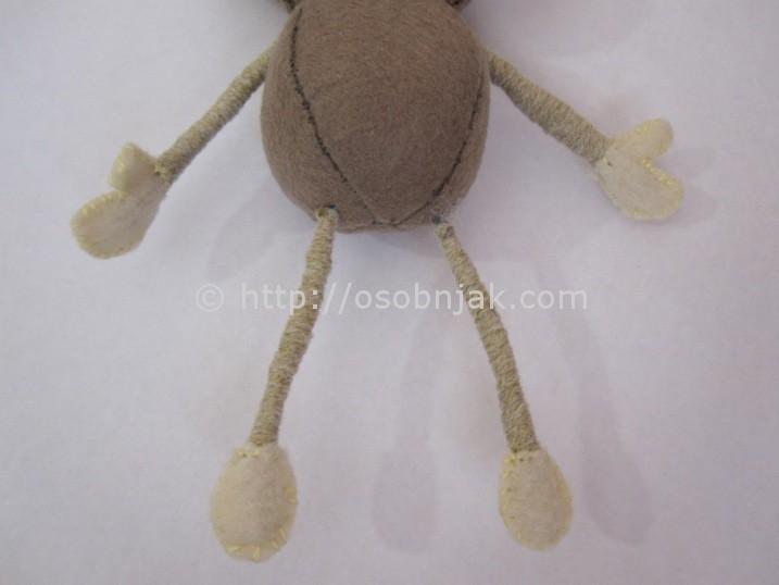 Ёлочная игрушка обезьяна своими руками сделать