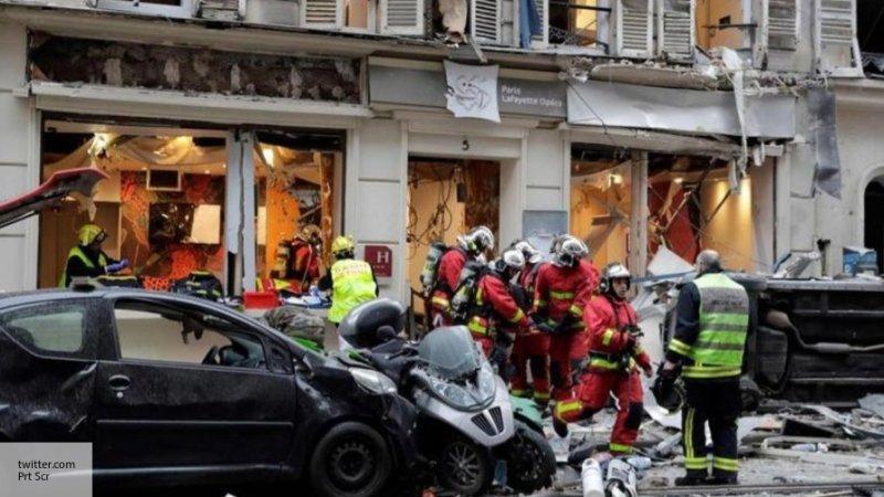 Взрыв в центре Парижа: постр…