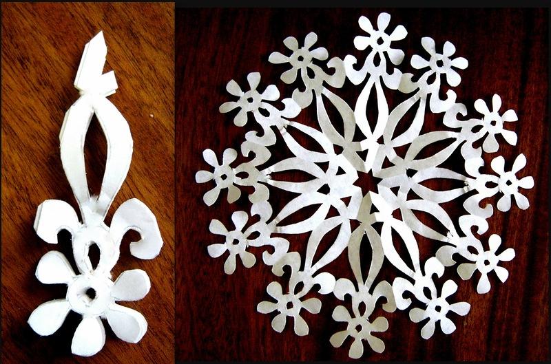 Снежинки ажурные из бумаги