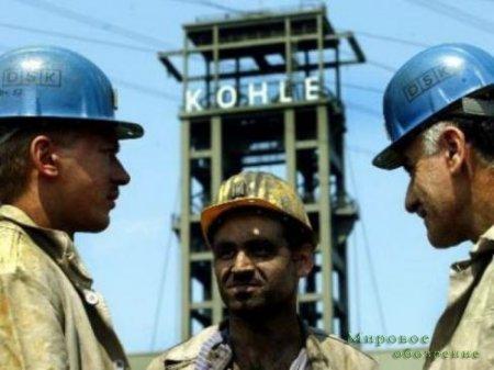 Немецкие шахтеры выступили в поддержку Донбасских коллег