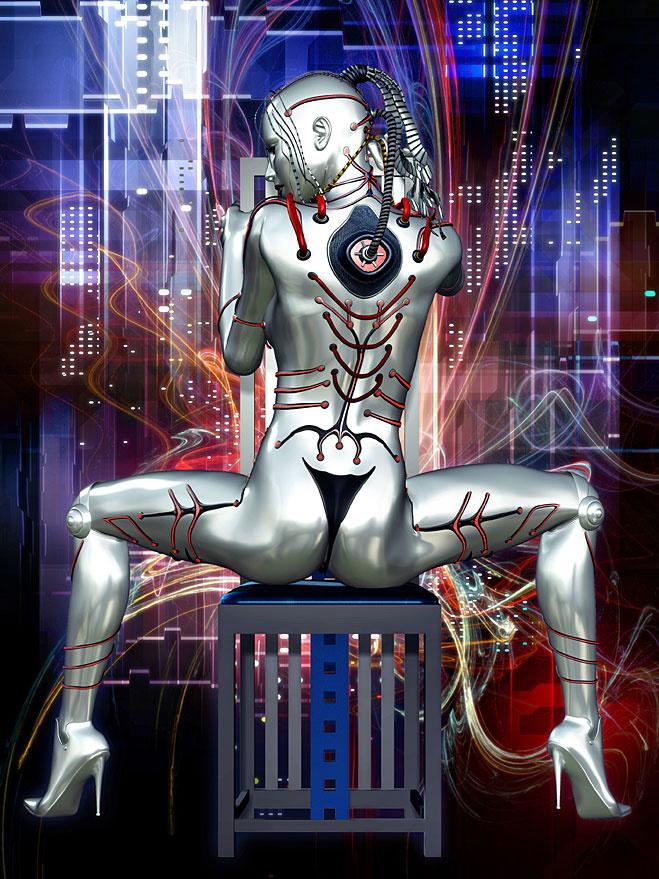 Секс девушка робот 19 фотография