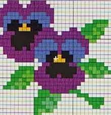 Картинки по запросу мини схемы вышивки крестом цветы