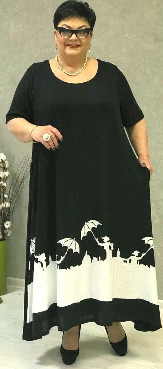 Платье бохо в черно-белой гамме