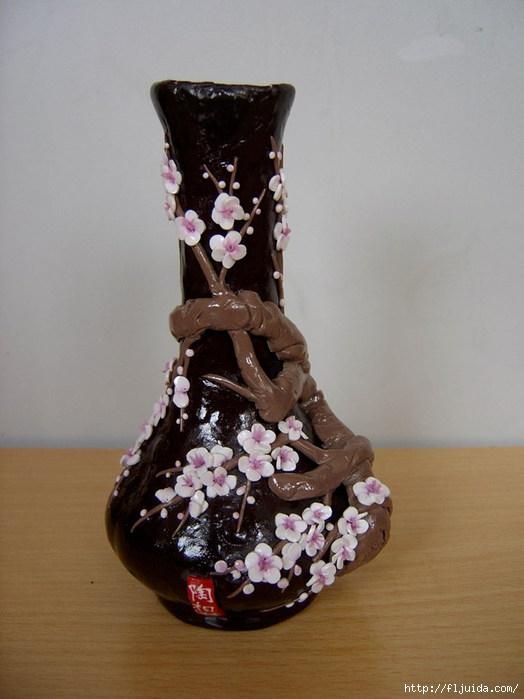 Polymer-Clay-Vase-Plum-Blossom (524x700, 155Kb)