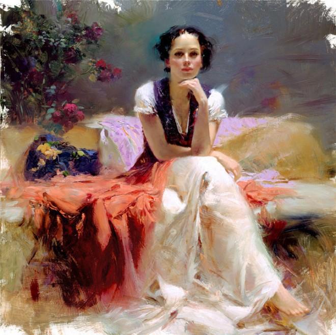 Итальянский иллюстратор и художник Pino Daeni Итальянские художники, искусство