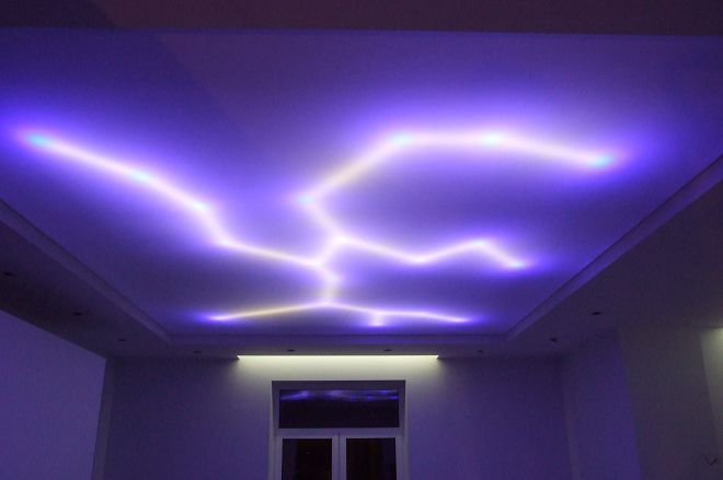 варианты потолка в гостиной