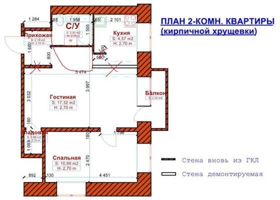 пятиэтажке-хрущевке: