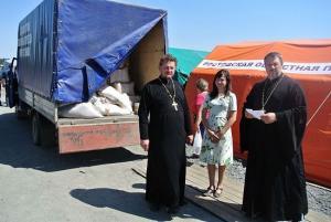 Священнослужители РПЦ помогают украинским беженцам