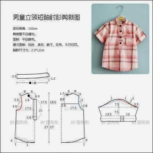 Moda e Dicas de Costura: Camisa de Criança Facil DE FAZER