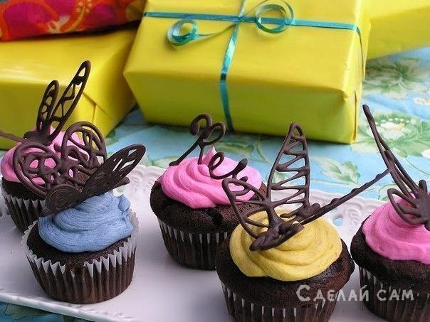 Шоколадная бабочка своим руками на бумаге