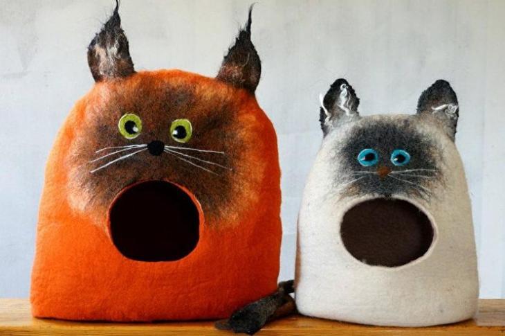 Идеи домиков для кошек своими руками