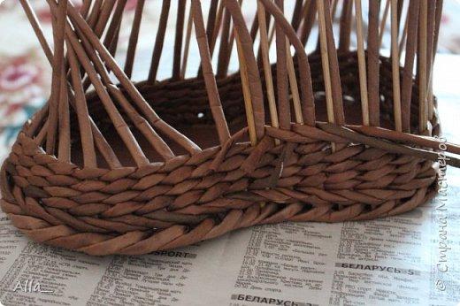 Мастер-класс Поделка изделие Плетение Как я делаю башмак Трубочки бумажные фото 5