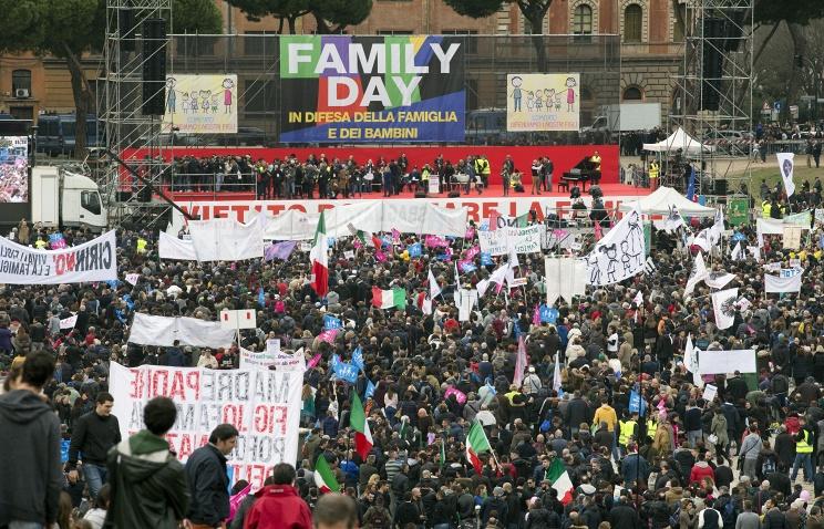 В Риме прошла миллионная демонстрация против гей-браков