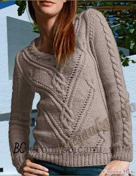 Пуловер спицами и жакет крюч…