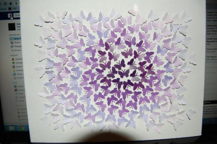 Панно из бабочек своими руками шаблон