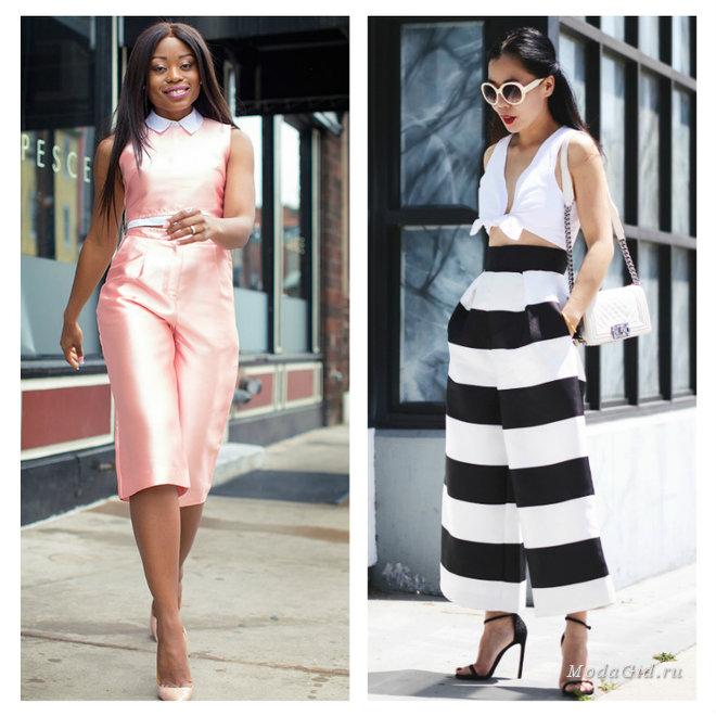 Модный тренд лета 2015: брюки-кюлоты