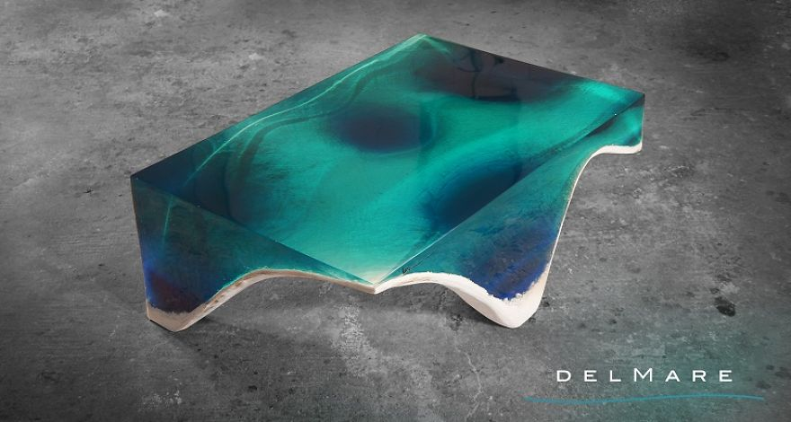 Sea-Inspired Table Will Let You Gaze Into The Depths Of The Sea While Dining