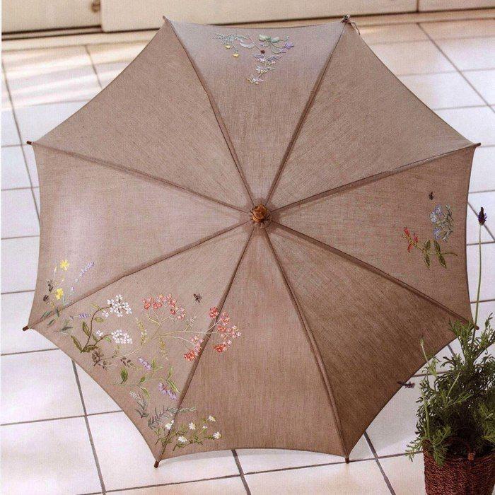 Вышитый зонт (diy)