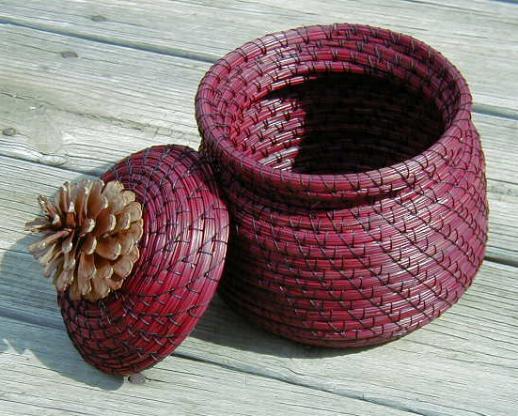 Корзины и вазы из сосновых иголок (подборка, Diy)
