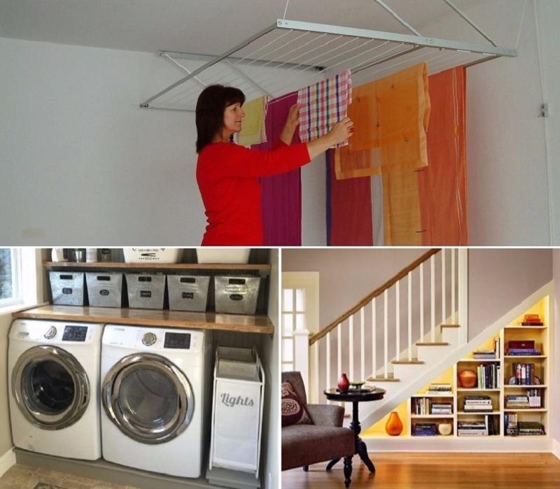 11 простых трюков, которые сэкономят место в доме