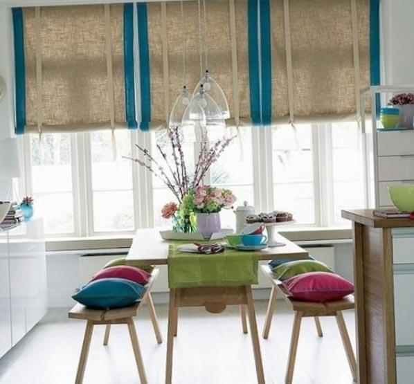 Фото штор на кухню в стиле модерн