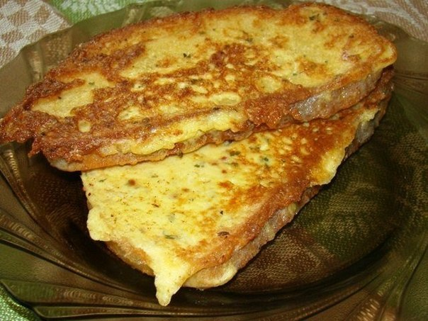 Гренки сыром на сковороде рецепт