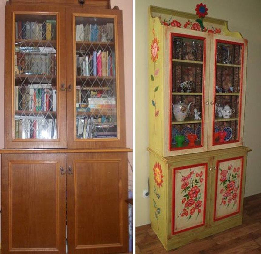 Обновление старой мебели.