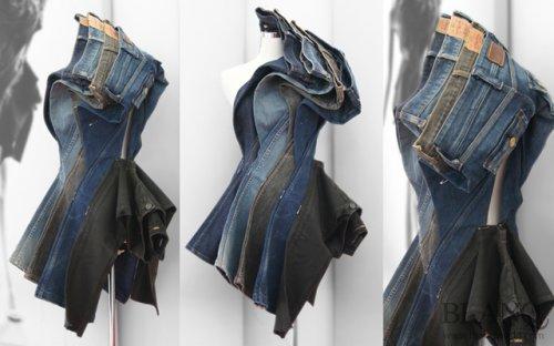 Платья, созданные из джинсов