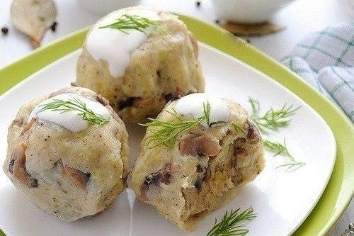 Кнедлики из картофеля с шамп…
