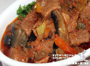ragu is govyadini s kabachkami i baklaganami 16 Рагу из говядины с кабачками и баклажанами