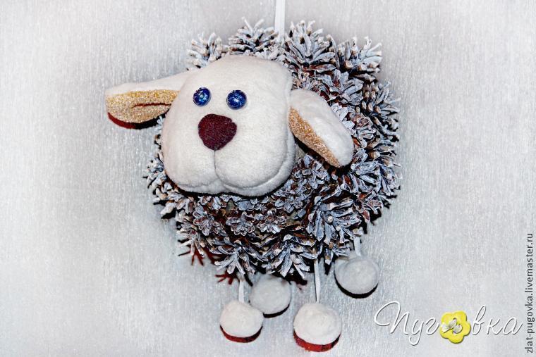 Мастерим овечку из шишек